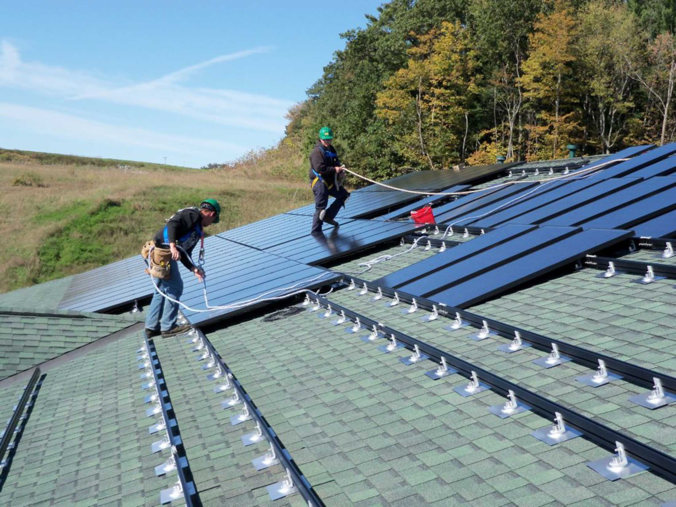 lamey wellehan solar roof installation