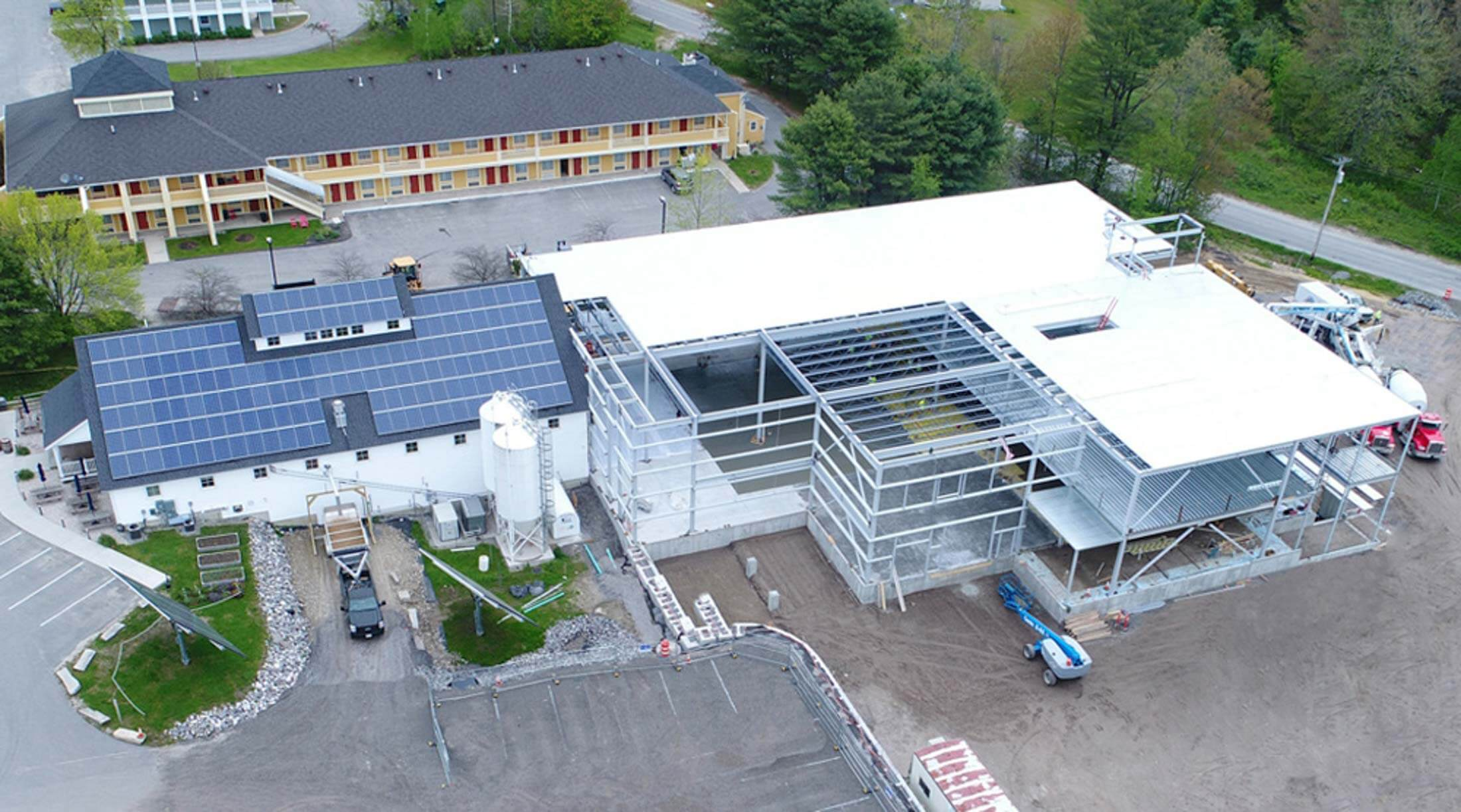 maine beer company commercial solar installation